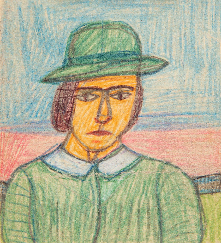Portret kuracjuszki w kapeluszu, lata 60. XX w.