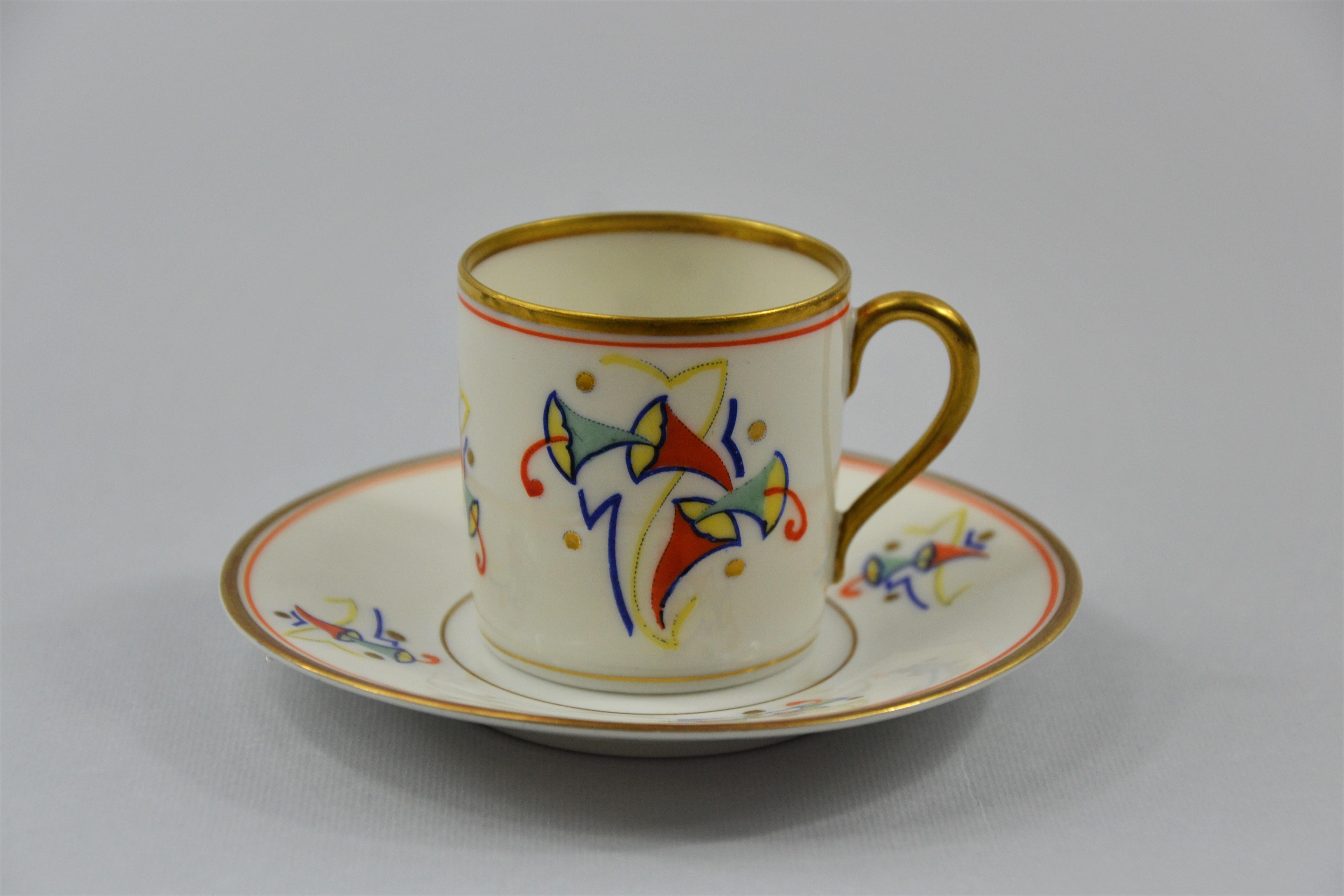Filiżanka i spodek, Niemcy, 1898-1906 r., Rosenthal Bavaria