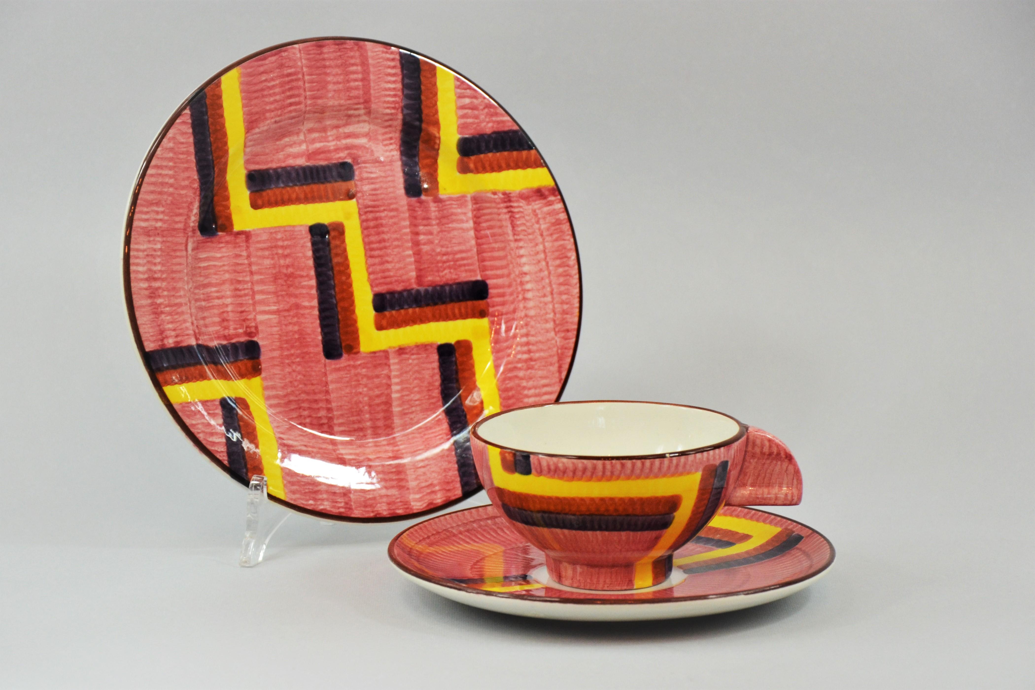 Zestaw śniadaniowy Schramberger Majolikfabrik, ok. 1930r.