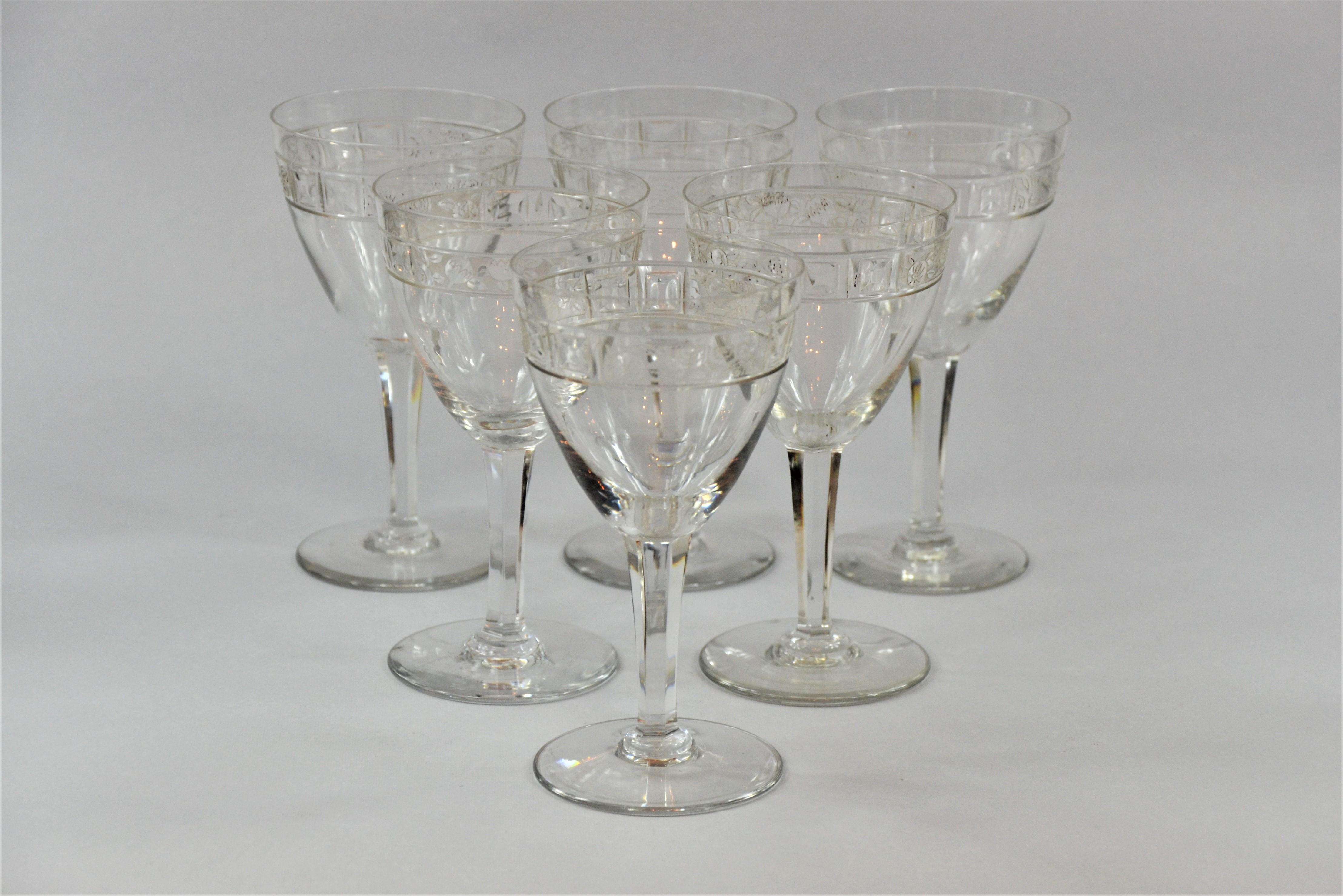 Komplet 6 kieliszków, Francja, ok. 1930 r., Cristalleries De Nancy
