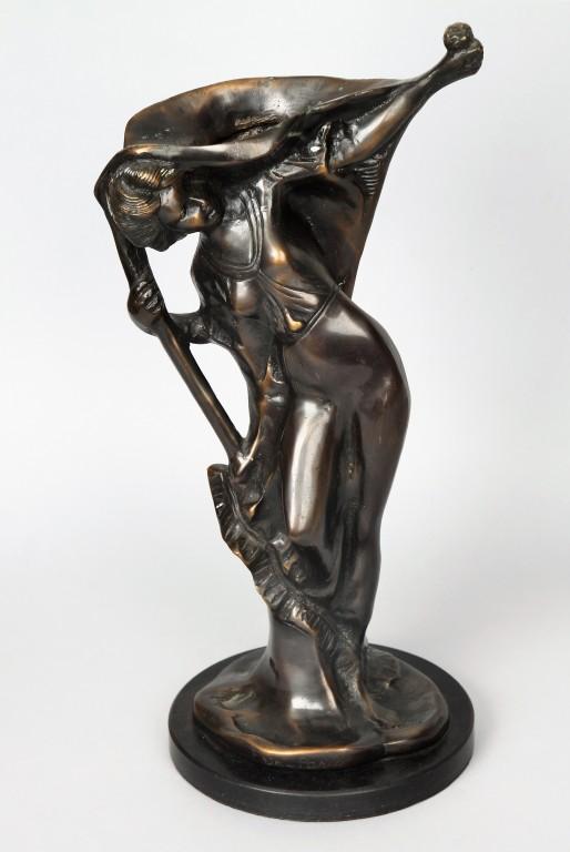 Figuratywny wazon, Francja, I poł XX w. proj. Erte (Romain de Tirtoff)
