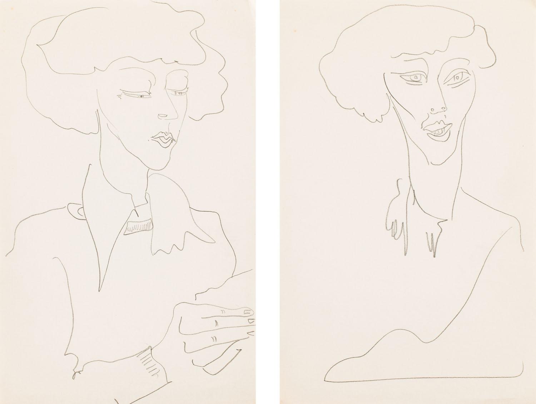 Czytająca i portret kobiety - praca podwójna