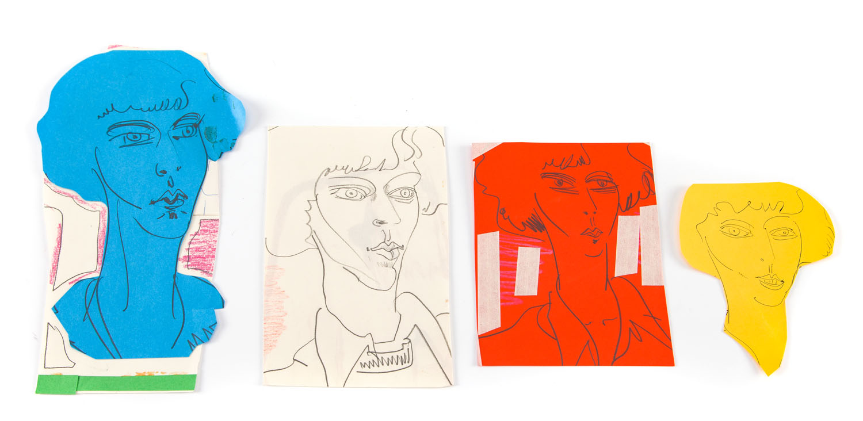 Studium portretu w kolorze (4 prace), 1977