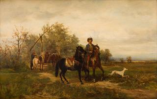 Odpoczynek Kozaków przy studni