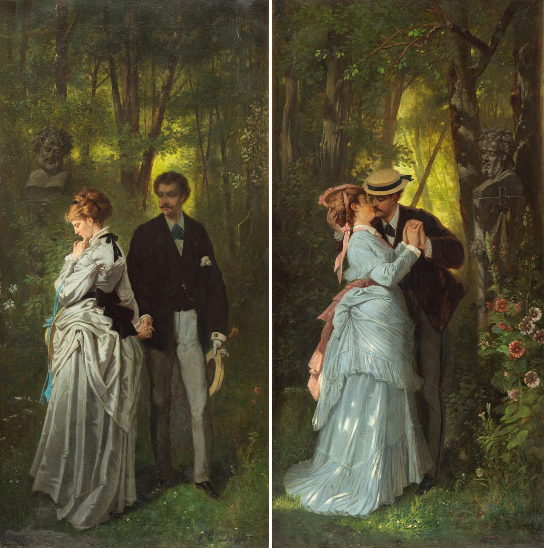 Sceny romatyczne - para obrazów