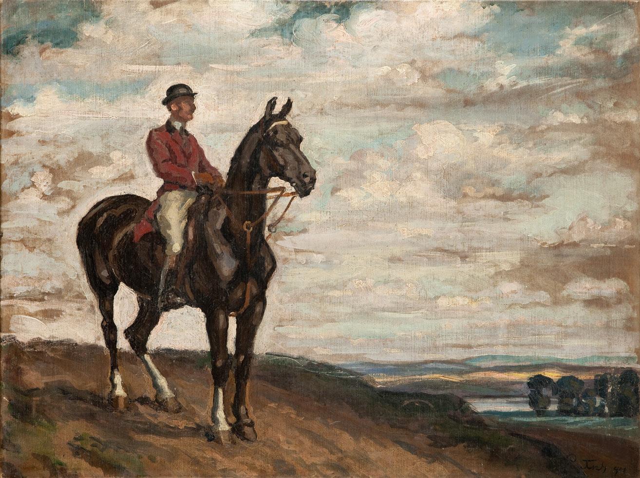 Jeździec na koniu, 1908