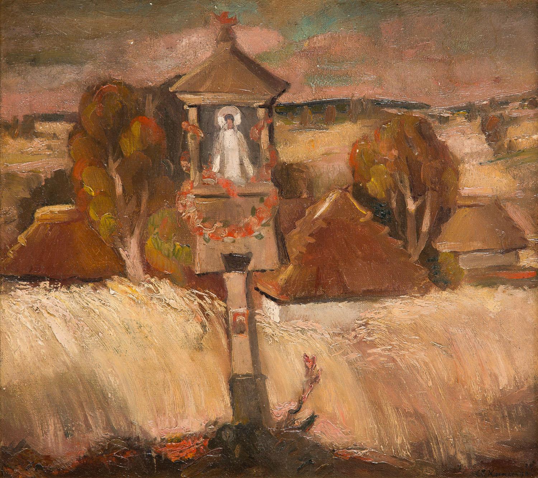 Pejzaż jesienny z kapliczką Matki Boskiej Zielnej, 1939