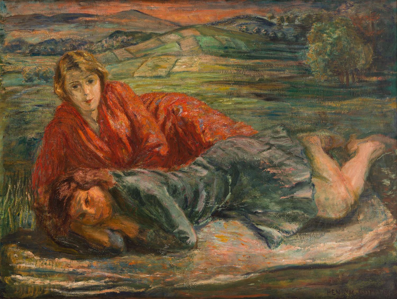 Kobiety na tle górskiego pejzażu, 1925-27