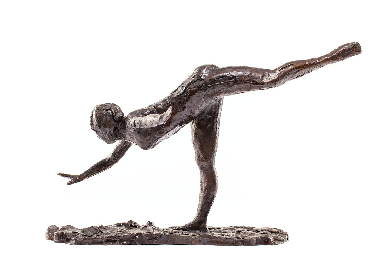 """Tancerka, arabeska na prawej nodze, prawa ręka blisko ziemi, lewa ręka wyciągnięta"" (""Danseuse, arabesque sur la jambe droite, la main droite près de terre, bras gauche en dehors"")"