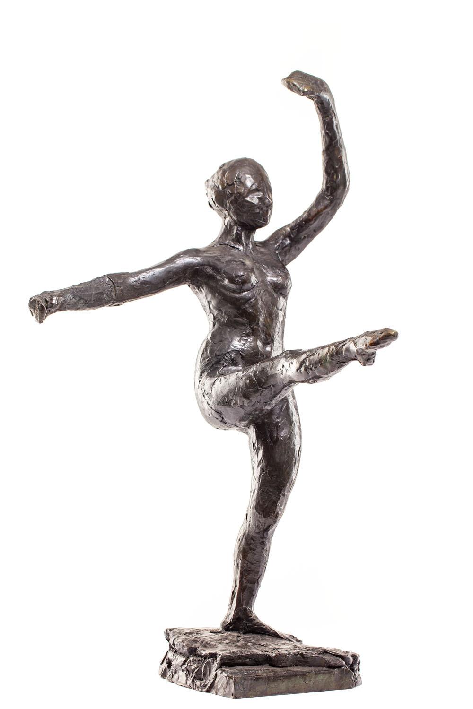 """""""Tancerka, czwarta pozycja w przód na lewej nodze"""" (""""Danseuse, position de quatrième devant sur la jambe gauche"""")"""
