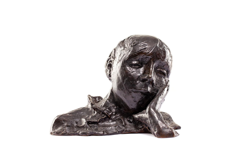 """""""Portret, głowa oparta na dłoni"""" (""""Portrait, tête appuyée sur la main"""")"""