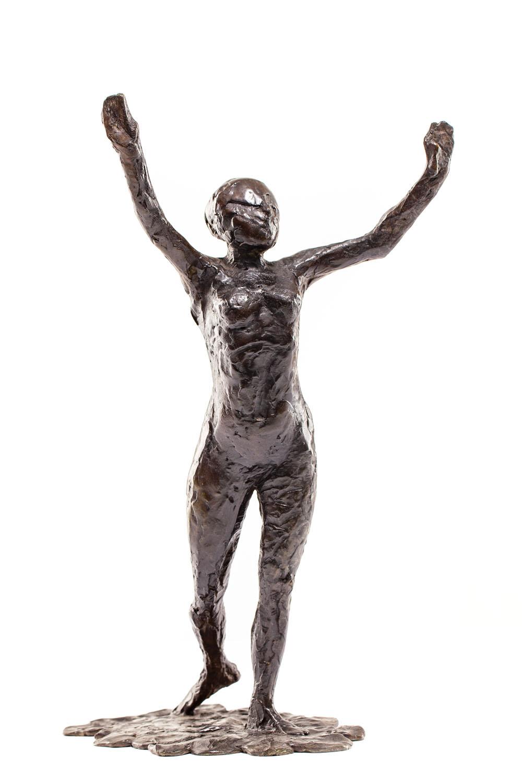 """Tancerka występująca naprzód z podniesionymi rękami"" (""Danseuse s'avançant, les bras levés"")"