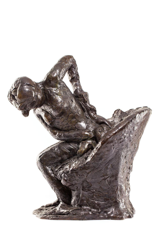 """""""Siedząca kobieta wycierająca swoje lewe biodro"""" (""""Femme assise s'essuyant la hanche gauche"""")"""