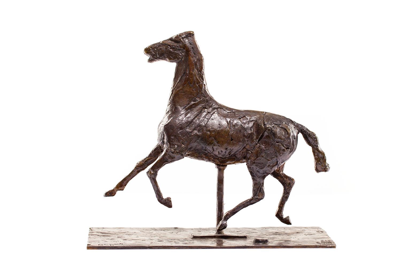 """Kłusujący koń z nogami nad ziemią"" (""Cheval au trot, les pieds ne touchant pas le sol"")"