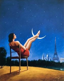 Księżyc - Paryż, 2020 r.