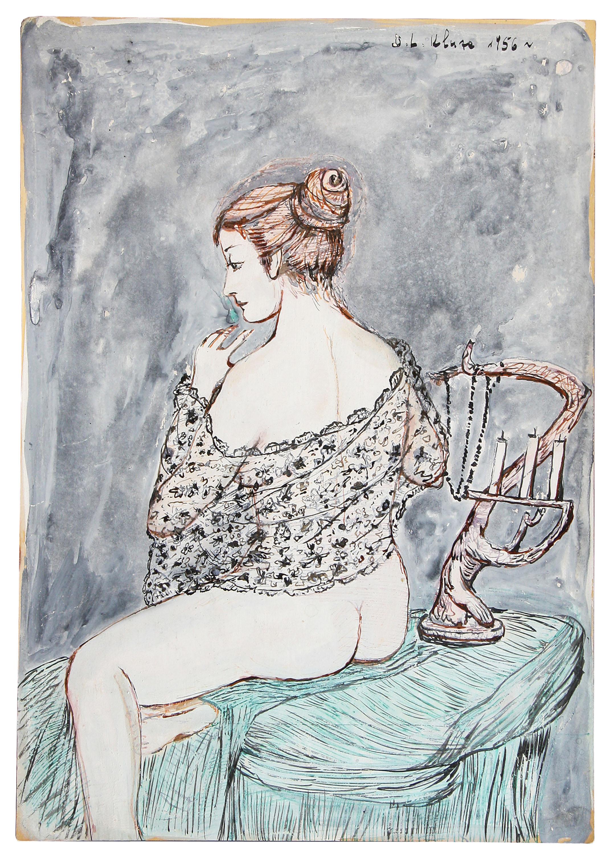 Siedząca tyłem, 1956 r.