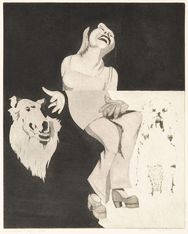 Dziewczyna i psy