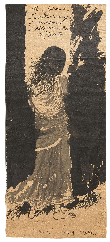 Nepalka z dzieckiem,  1980 r.