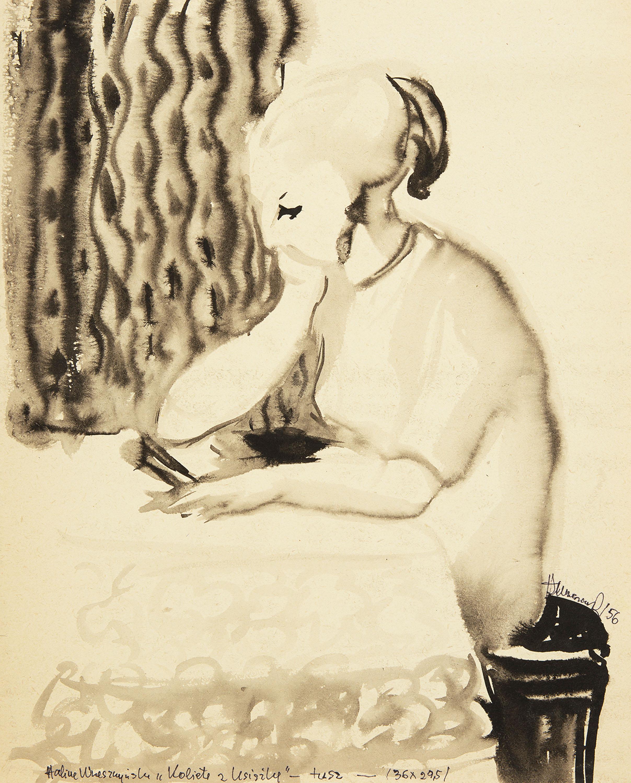 Kobieta z książką, 1956 r.