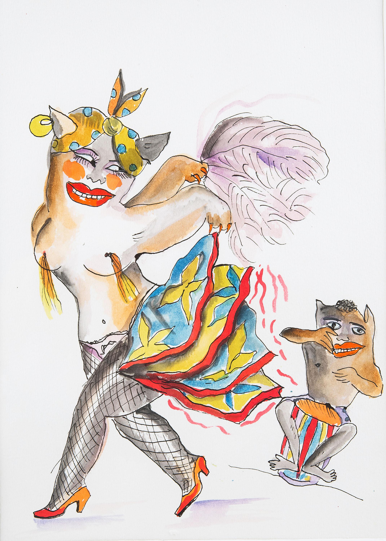 Tancerka samby, lata 90. XX w.