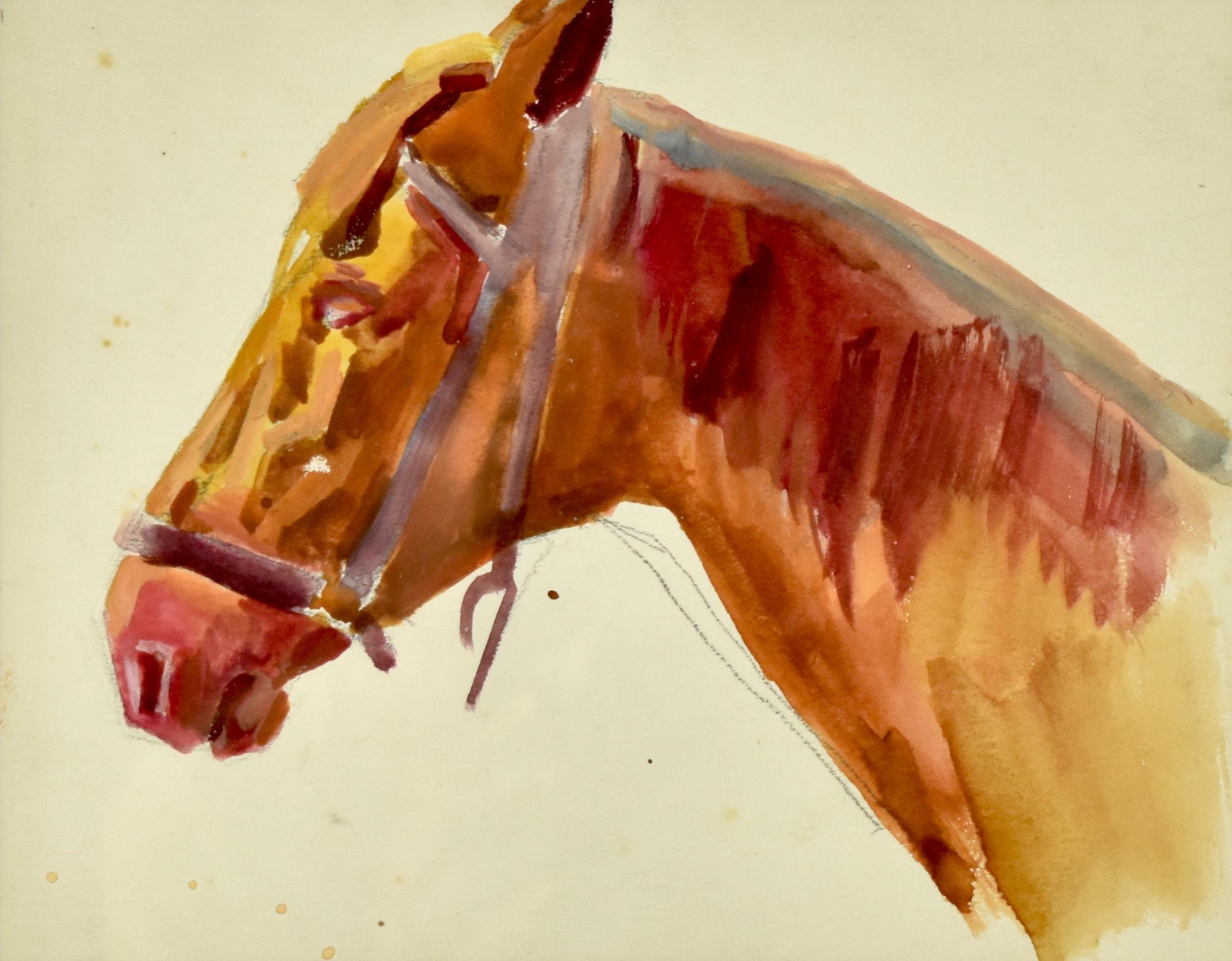 Studium głowy konia z lewego profilu, 1917