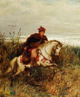 Posłaniec – Krakus pędzący na koniu