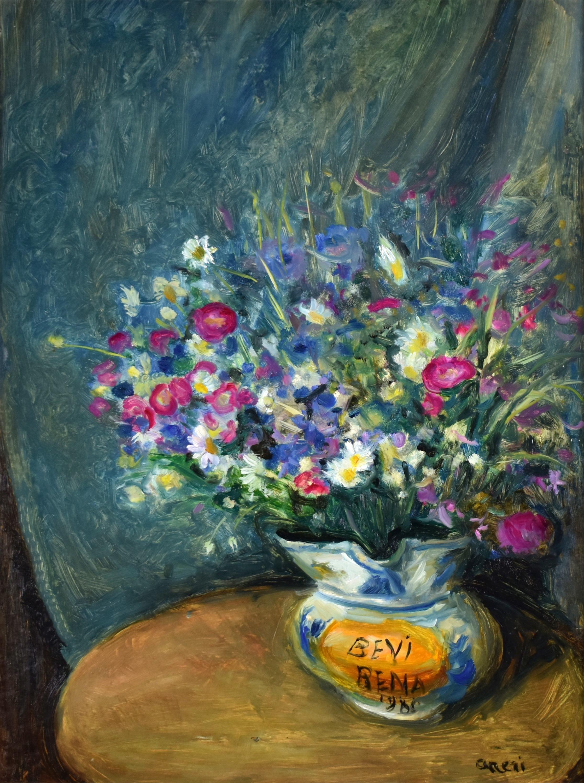 Kwiaty w wazonie, 1980