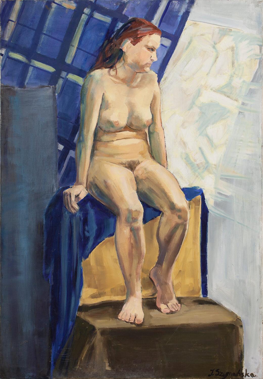 Akt kobiecy w błękitnej tonacji XX