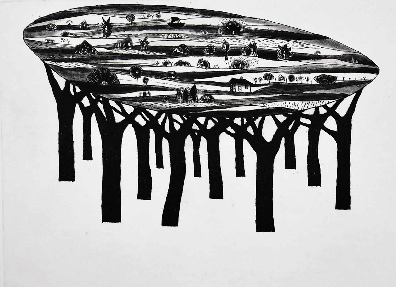 Z cyklu Drzewa objawień, Niebo nad lasem, 2007