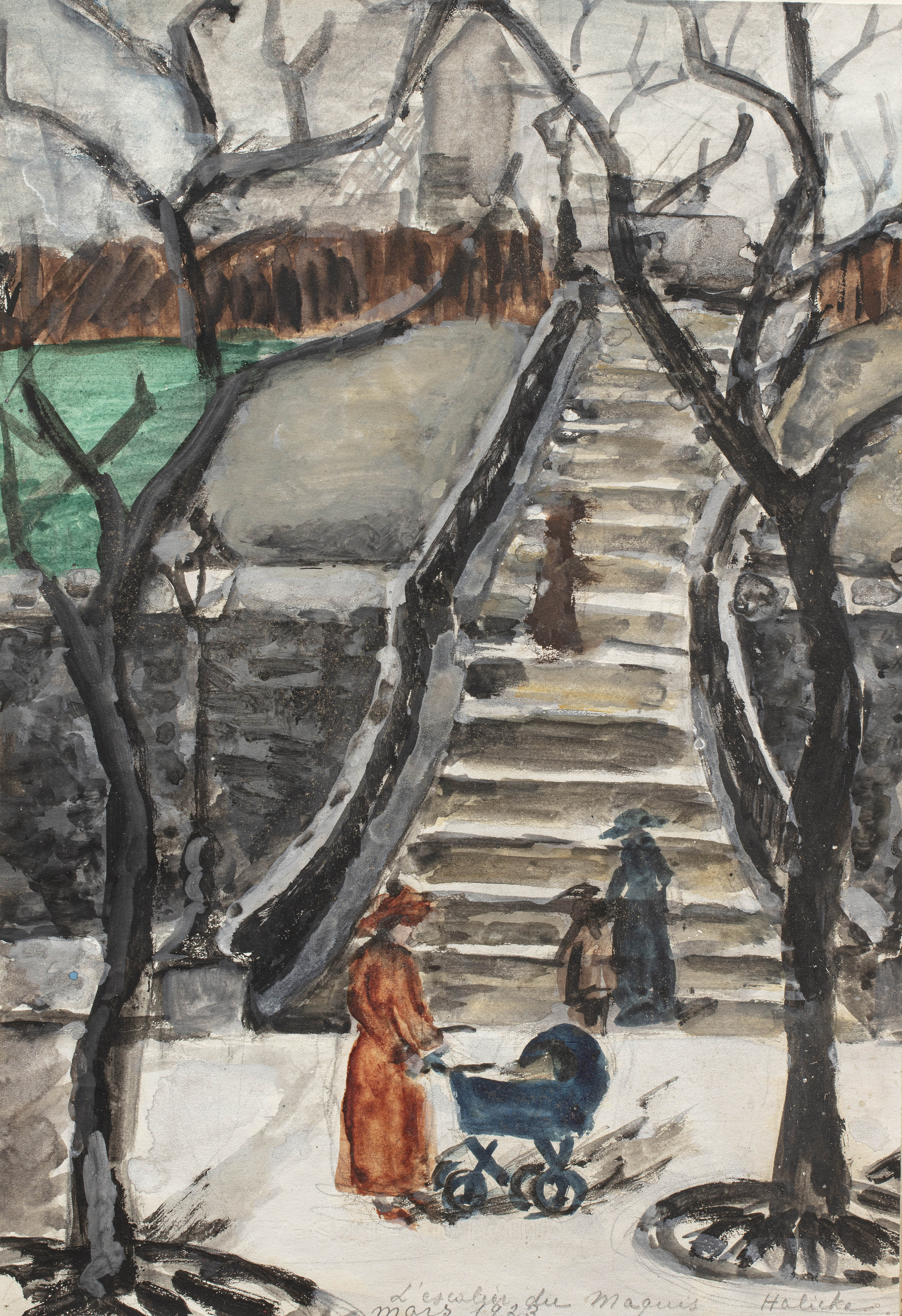 Schody, 1923