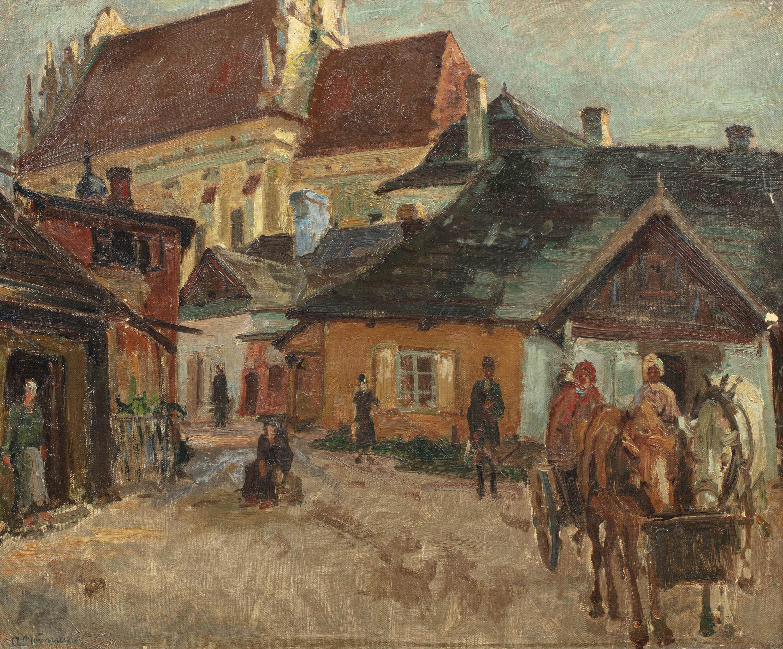 Scena uliczna na Kazimierzu, Kraków