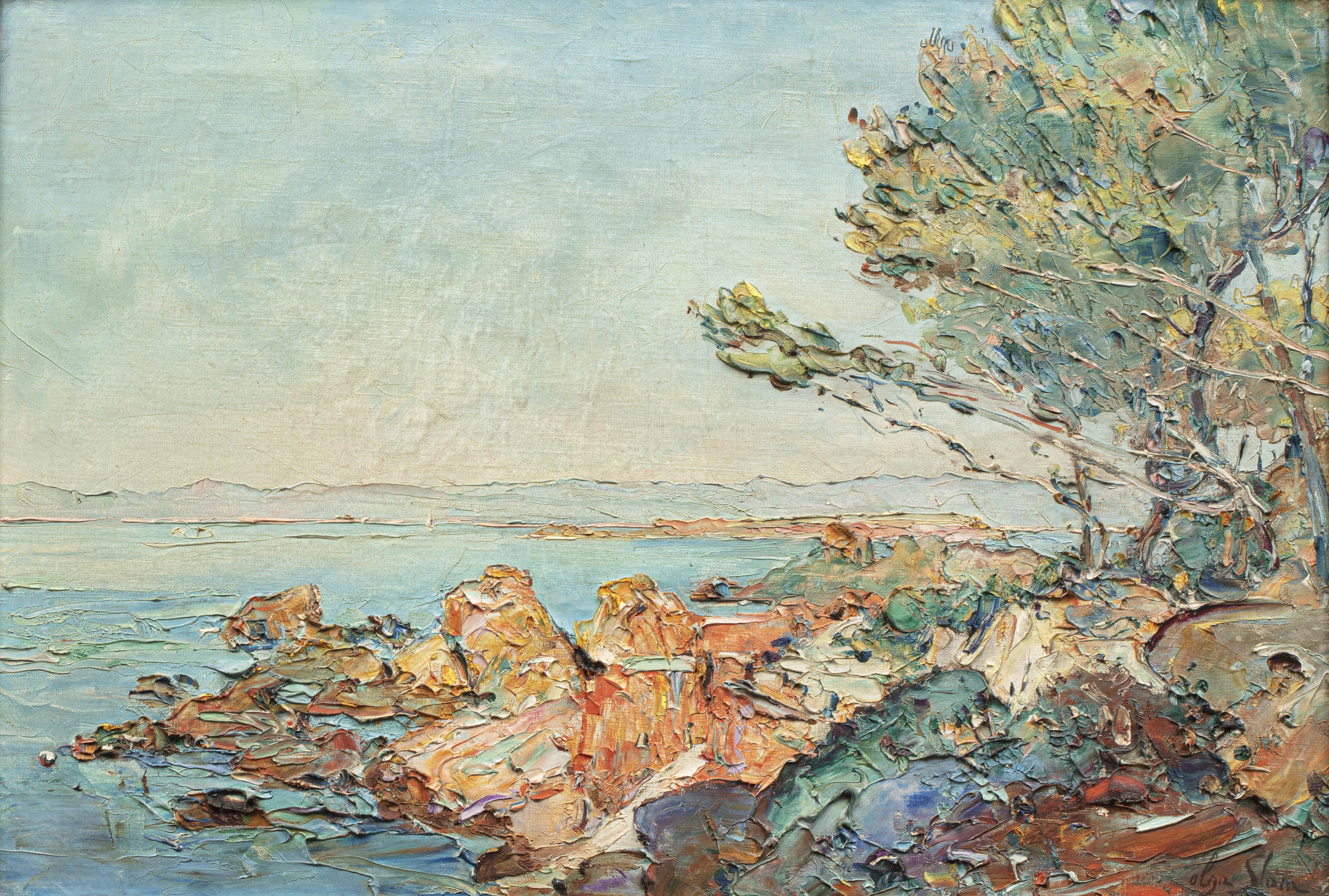 Pejzaż wybrzeża w pobliżu Saint-Raphäel