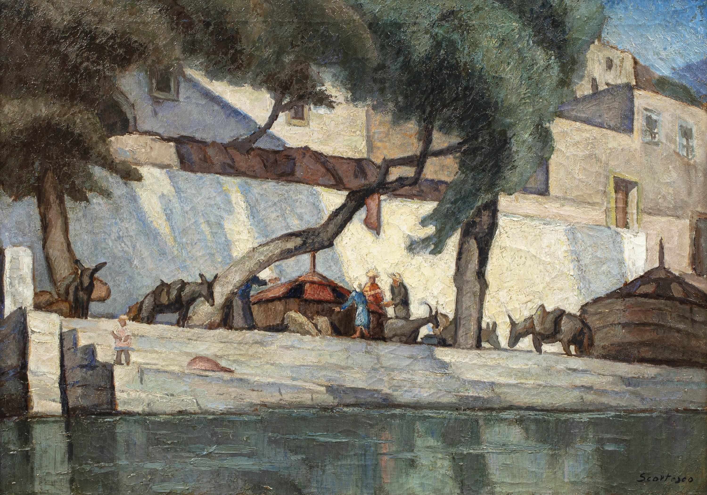 Ludzie nad rzeką