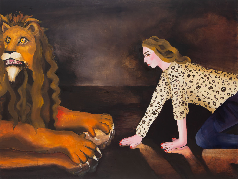 """Autoportret z lwem"", 2013"