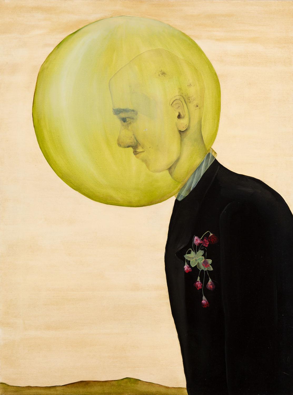 Bez tytułu (z głową w zielonej bańce), 2011
