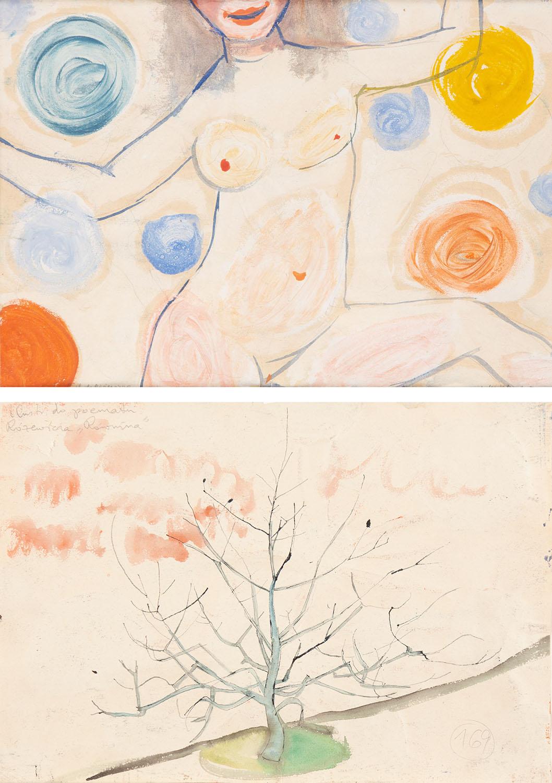 """Ilustracja do Różewicza [Ilustracja do poematu Różewicza """"Równina""""], 1954"""