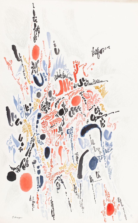 """""""Kompozycja z czerwienią"""", 1969"""