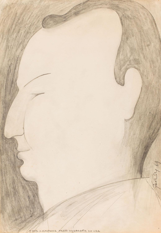 """""""P. Red. J. Olkiewicz przed wyjazdem do USA"""", 1969"""