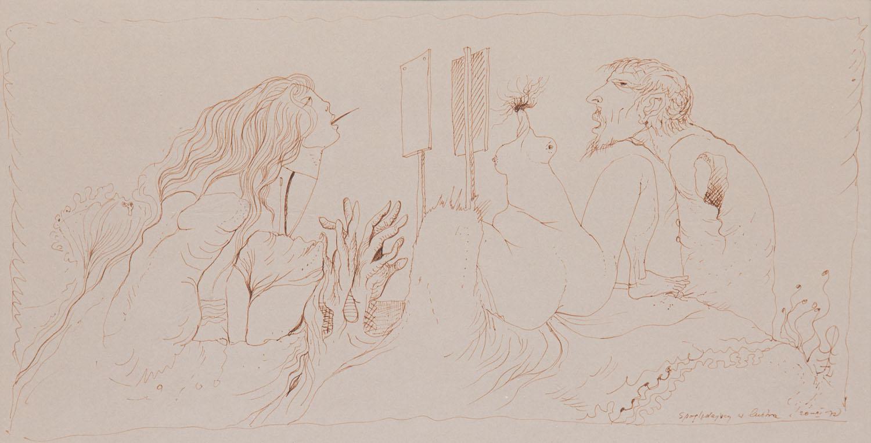 """""""Spoglądający w lustro"""", 1972"""