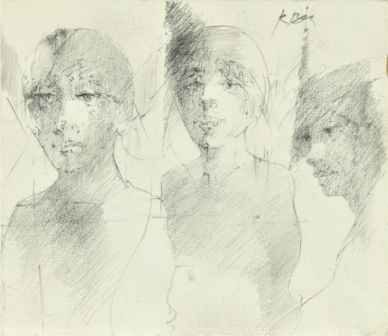Szkice trzech postaci