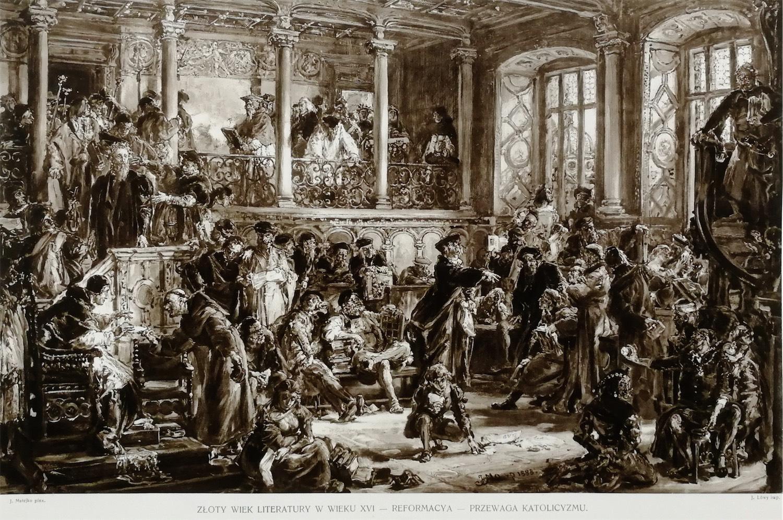 Złoty wiek literatury w wieku XVI – Reformacya – Przewaga Katolicyzmu
