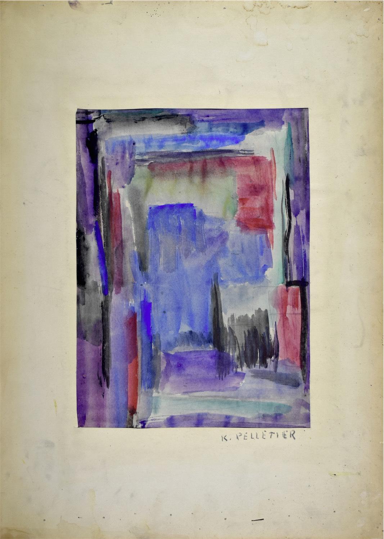 Kompozycja fioletowo-niebieska