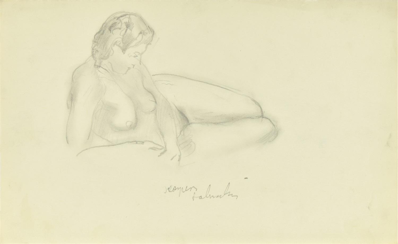 Akt półleżącej kobiety, 1941
