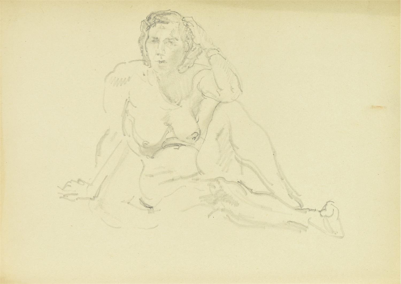 Akt siedzącej kobiety, 1953