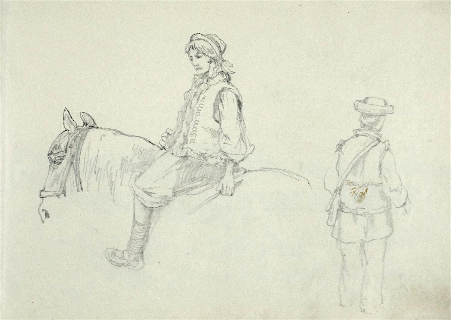 Hucułka na koniu i hucuł
