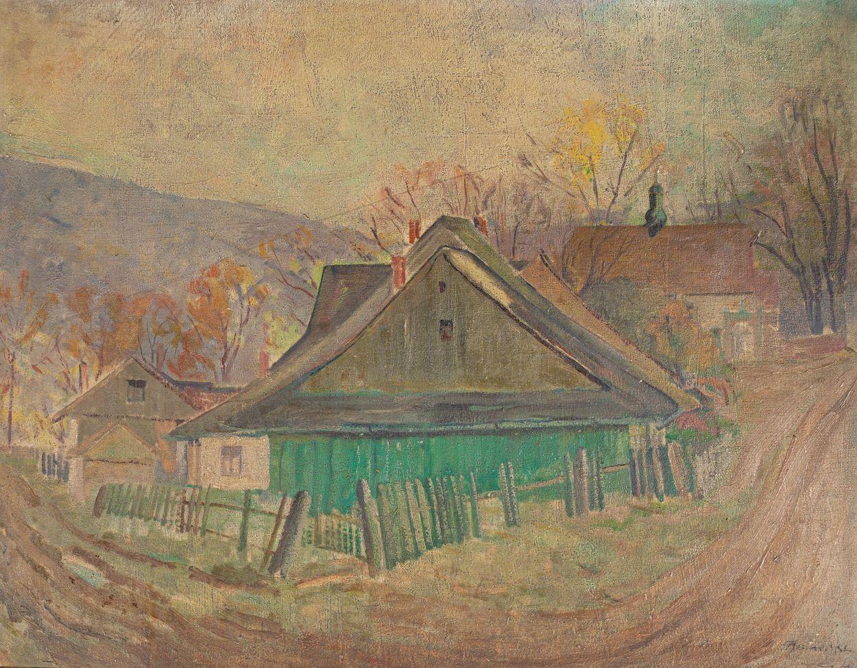 PEJZAŻ WIEJSKI, 1946