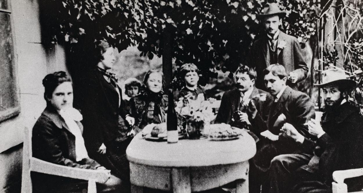 JADWIGA JANCZEWSKA W TOWARZYSTWIE, ok. 1900
