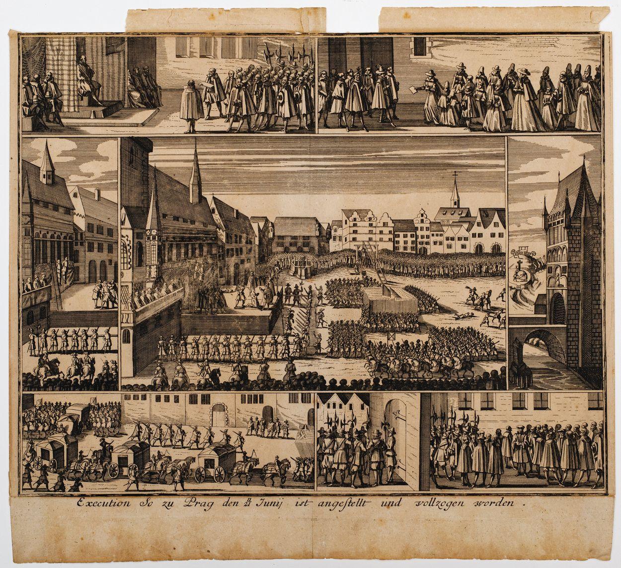 EGZEKUCJA CZESKICH PRZYWÓDCÓW POWSTANIA PRZECIW CESARZOWI FERDYNANDOWI II W PRADZE 21 CZERWCA 1621