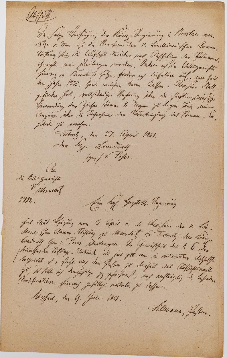 WYCIĄG Z AKT, 1851