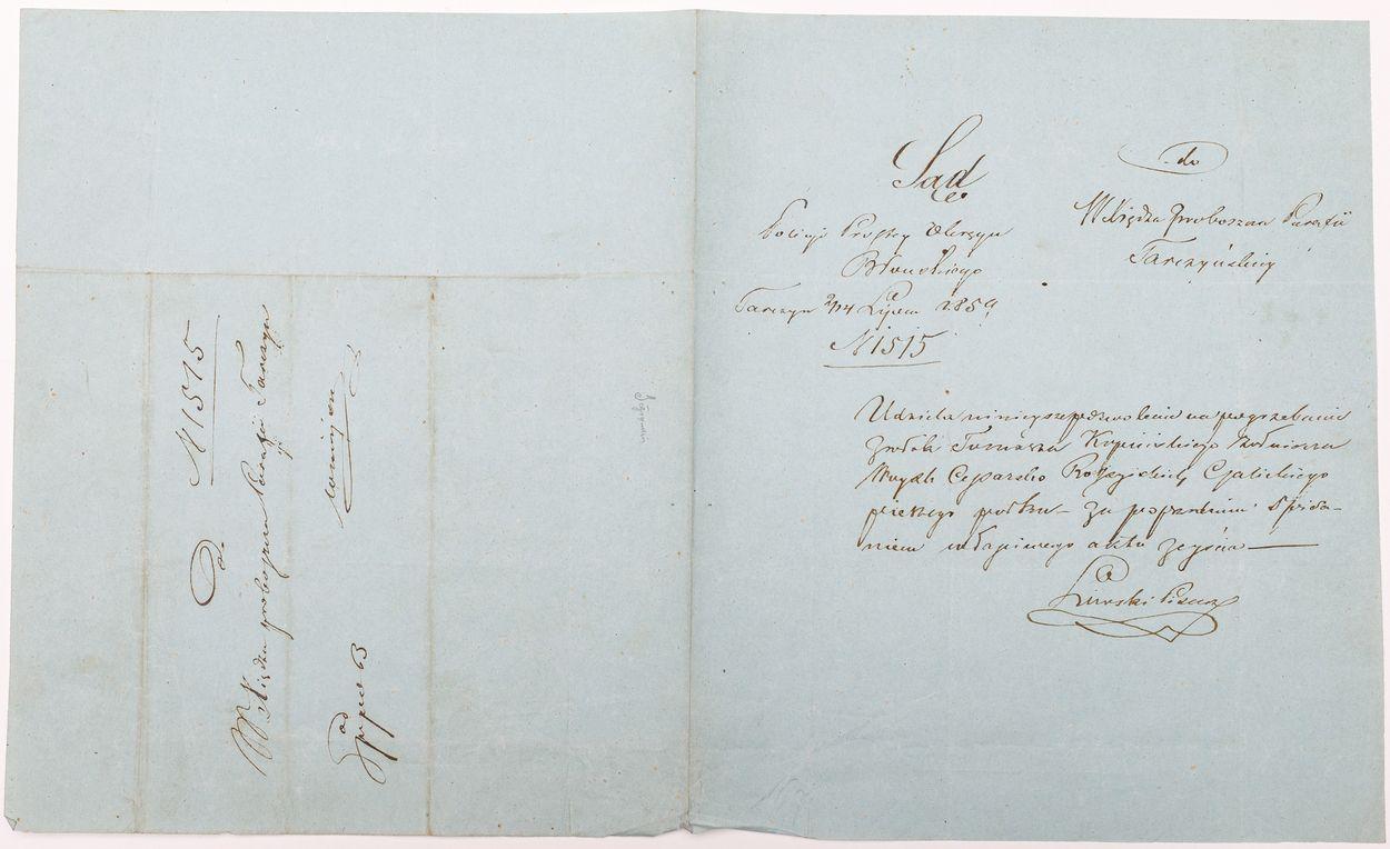 LIST SĄDU POLICJI PROSTEJ OKRĘGU BŁOŃSKIEGO, Tarczyn, 4.07.1859